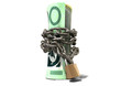 Rolled Up And Shackled Australian Dollar Standing