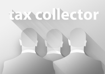 Tax collector concept 3d illustration flat design