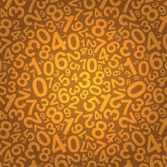 orange number background