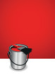 red paint pot background