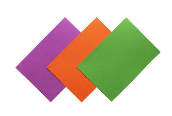 Secondary Colours - green, orange and violet