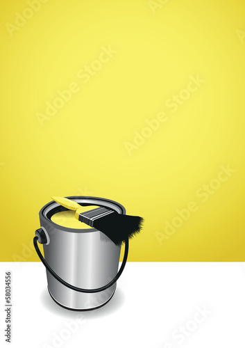 yellow paint pot background