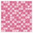 ハート 花柄 パターン ピンク