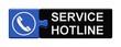 Puzzle-Button blau schwarz: Service Hotline