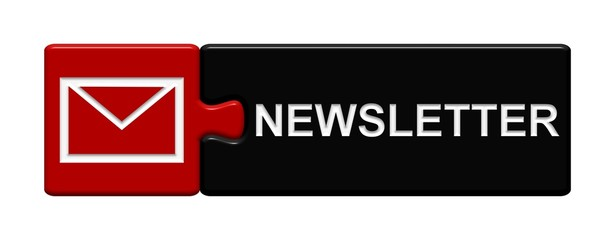 Puzzle-Button rot schwarz: Newsletter