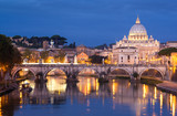St. Angel Bridge and St. Peter's Basilica, Rome