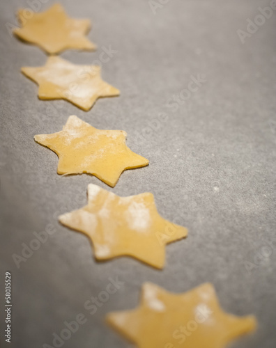 star shaped biscuits