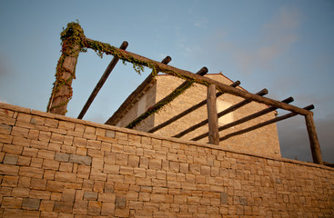 stone made villa detail