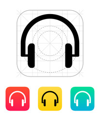 Headphones icon.