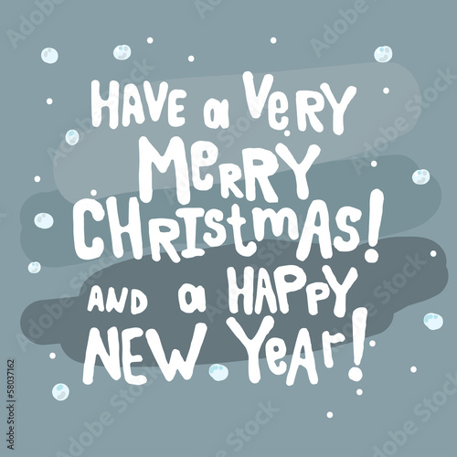 Vector Merry Christmas and a Happy New Year Greeting Card