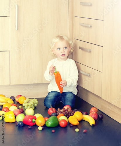 toddler with pepper