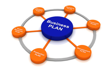 Business plan Concept  chart management  multicolor Circle