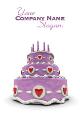 Pink Love cake