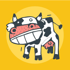 Mad Cow Vector illustration