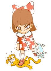 Mad Girl Vector illustration
