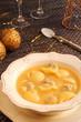 Christmas soup. Sopa navideña de galets