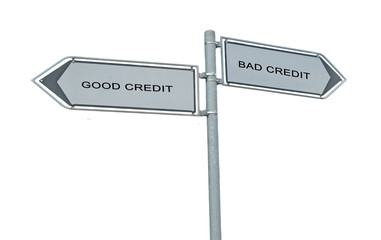 Road signs to good and bad credit