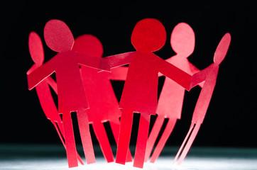 Teamwork Papiermännchenkreis