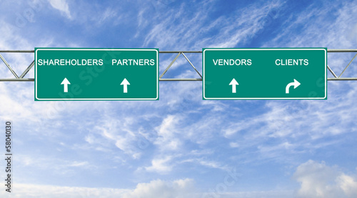 Road signs to stakeholders