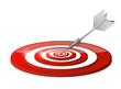 steps target and dart illustration design