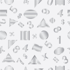 Seamless vector of geometric shapes and figures