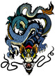 blue dragon tattoo