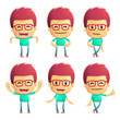 casual man in various poses for use in advertising,
