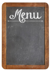 menu on vintage  blackboard