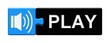Puzzle-Button blau schwarz: Play