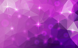 Vector abstract polygonal cosmic background