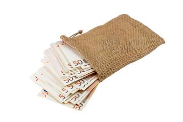 sack voller banknoten
