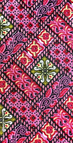 Thai native fabric texture background