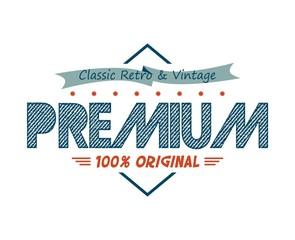 vintage retro product label
