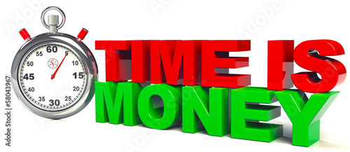 Time is Money Stoppuhr
