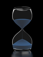 Hourglass isolated on black