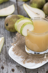 Portion of Pear juice