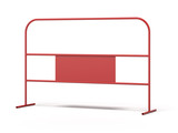 Red steel barrier