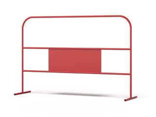Red steel barrier