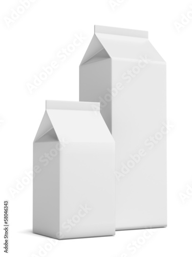 Two Milk Carton Packages