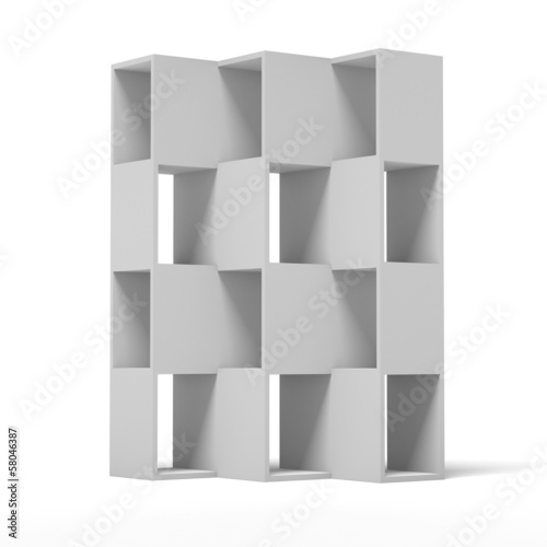 white wooden bookshelf