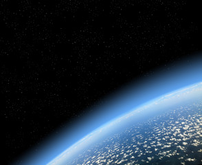 ....view of earth from space