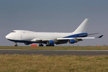 Cargo plane after landing