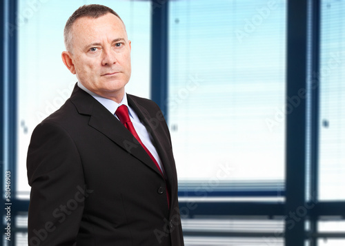 Confident businessman in the office