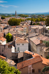 Avignon old city houses view