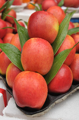 Set of apples fruit preparing for sale on local markets, Thailan
