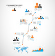 Timeline to display your data with Infographic elements