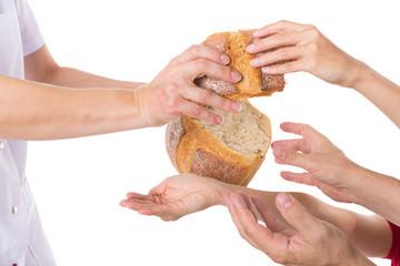 Konzept Nahrungsverteilung