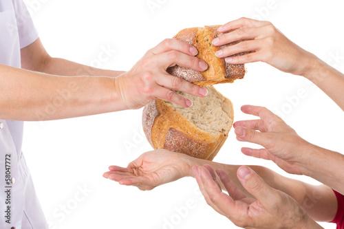 canvas print picture Konzept Nahrungsverteilung