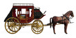 canvas print picture - Stagecoach with Horses