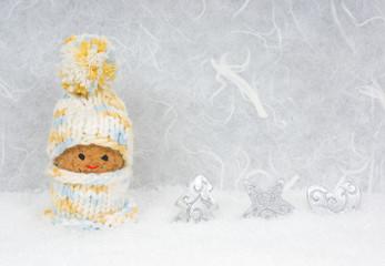 Weihnachtsgutschein mit Wichtel und Deko